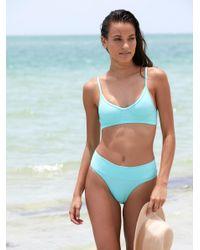 Free People - Blue Dip Bikini Briefs Teardrop Crop Bikini Top - Lyst