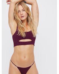 Free People - Purple Super Skinny Bikini - Lyst