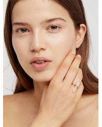 Free People - Multicolor Mint Wrapped Crystal Ring - Lyst