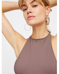 Free People - Brown Extreme T-back Seamless Cami - Lyst