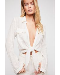 Free People - White Fp One Lana Knot Top - Lyst