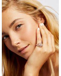 Free People | Metallic Engraved Signet Ring | Lyst