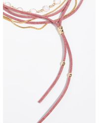 Free People - Pink Wanted & Wild Leather Bolo - Lyst