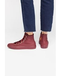 Free People - Red Big Eyelets High-top Chuck By Converse - Lyst