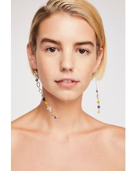 Free People - Blue Eclipse Asymmetrical Earrings - Lyst