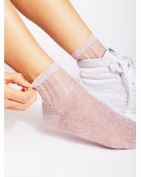 Free People | Pink Roseland Lurex Anklet | Lyst