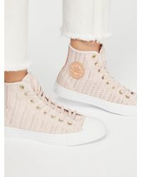 Free People - Multicolor Woven Hi Top Chuck Sneaker - Lyst