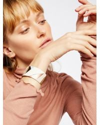 Free People | Metallic Patched Leather Cuff | Lyst