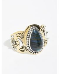 Free People - Metallic Spirit Stone Cuff - Lyst