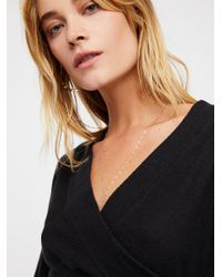 Free People - Black Wrap Me Up Pullover - Lyst