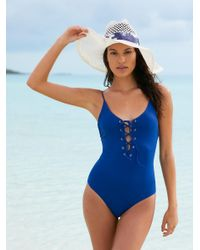 Free People - Blue Monahan One Piece Swimsuit - Lyst