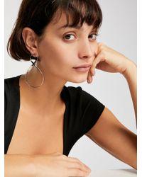 Free People - Metallic Infinity Hoop Earrings - Lyst