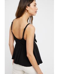 Free People - Black Irene Cami By Intimately - Lyst
