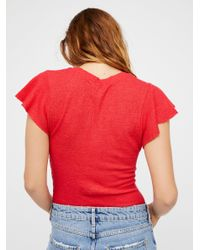 Free People - Red We The Free Simone Tee - Lyst