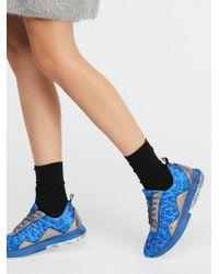Free People - Blue Stardust Sneaker - Lyst