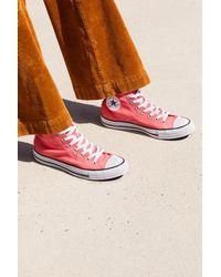 Free People - Orange Charlie Hi Top Converse Sneaker - Lyst