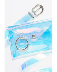 Free People - Blue Translucent Belt Bag - Lyst