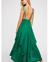 Free People - Green Tropical Heat Maxi Dress - Lyst