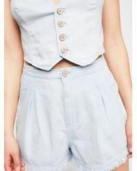 Free People - White Poppy Vest & Short Co-ord - Lyst