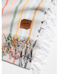 Free People - White Zypher Blanket Towel - Lyst