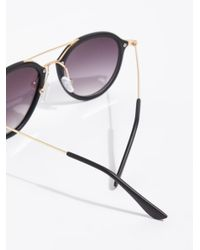 Free People - Black Rhodes Matte Aviator Sunglasses - Lyst
