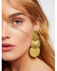 Free People - Multicolor 4 Moons Disc Earrings - Lyst
