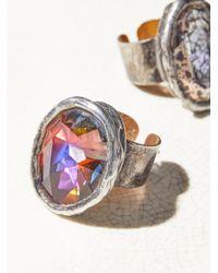Free People - Multicolor Swarovski Monarch Stone Ring - Lyst