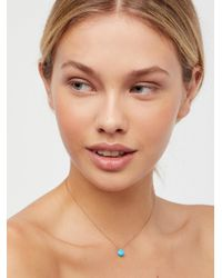 Free People | Brown Meaningful Stone Necklace | Lyst