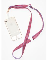 Free People - Purple Strappy Happy Phone Sling - Lyst