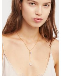 Free People - Natural Raw Stone Charm Lariat - Lyst