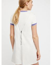 Free People - White Going West Mini Dress - Lyst