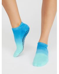 Free People - Blue Think Free Grip Sock - Lyst