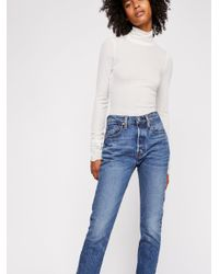 Free People - Blue Levi's 501 Skinny Jeans - Lyst