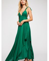 Free People - Green Tropical Heat Maxi Dress - Lyst