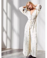 Free People - Multicolor Embroidered V Jumpsuit - Lyst