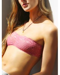 Free People - Pink Essential Lace Bandeau - Lyst