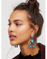 Free People - Blue Road To Cali Turquoise Knockers - Lyst