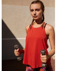 Free People - Red Slay Tank - Lyst