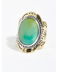 Free People - Metallic Spirit Stone Ring - Lyst
