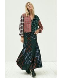 Free People - Blue Walk This Way Maxi Skirt - Lyst