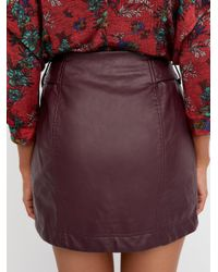 Free People - Purple Feelin' Fresh Vegan Skirt - Lyst