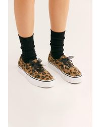 2178e519a032 Lyst - Free People Leopard Ua Authentic Platform 2.0 By Vans