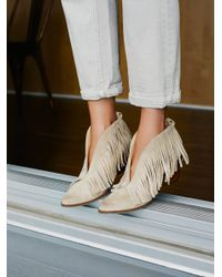 Free People - Natural Tulsi Fringe Boot - Lyst