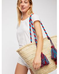 Free People - Multicolor Valencia Straw Tote - Lyst
