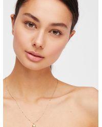 Free People - Metallic 14k Double Face Heart Necklace - Lyst