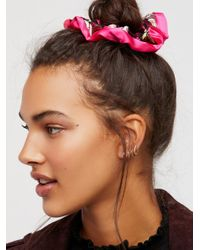 Free People | Pink Accessories Hair Accessories Hair Ties & Headbands Embroidered Scrunchie | Lyst