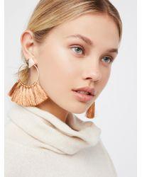 Free People - Metallic Full Bloom Fan Earrings - Lyst