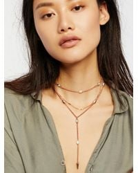 Free People - Multicolor Pretty Lover Delicate Bolo - Lyst