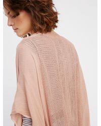Free People - Pink Day Dream Washed Kimono - Lyst