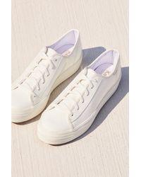 Free People - White Triple Kick Platform Sneaker By Keds - Lyst